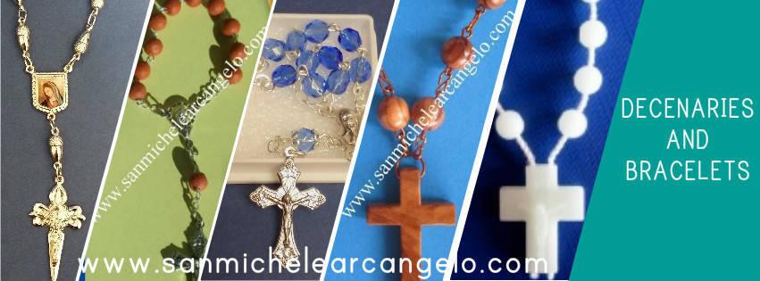 Catholic Italian religious bracelets, decenaries  Also